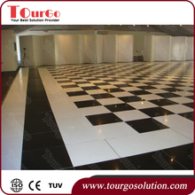 Tourgo Hollywood Black and White Chequered Flooring Night Club Dance Floor