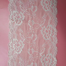 Wholesale custom white lace trimming border,lingerie border ivory bridal lace trim