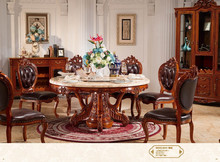 European furniture style cheap antique cherry wood dining room set