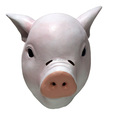 Adult Piggy Latex Full Head Gum Hood pig mask