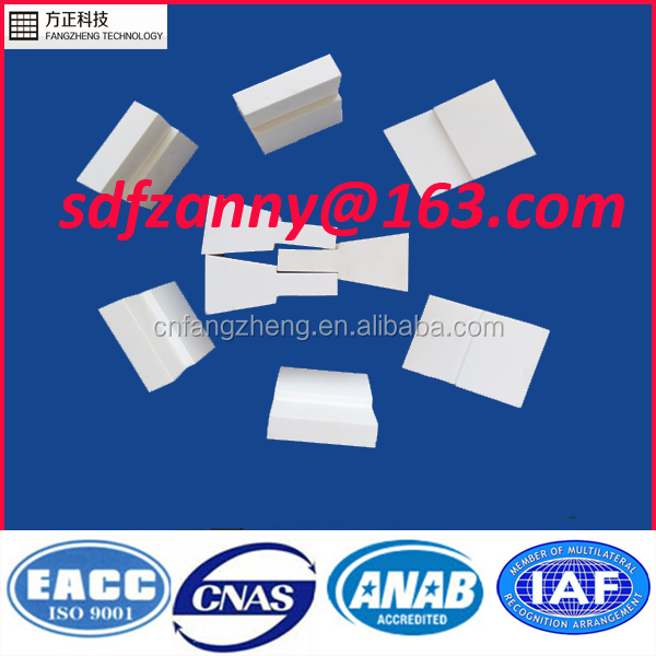 92% alumina ceramic wear parts for equipment liner from Shandong Fangzheng