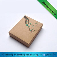 Custom design brown kraft paper box/New style gift packaging, kraft paper box, folding paper box