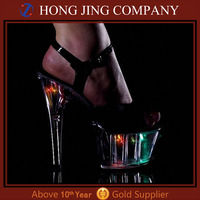 Led light high heel shoes for wedding dress