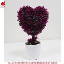 Hot sale produts heart-shaped mini plant for thanksgiving office deorations