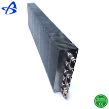 Industrial grade air and gas convector finned tubular heating element
