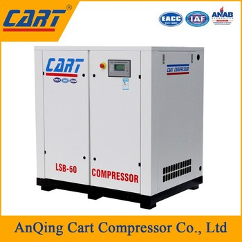 30KW40HP belt driven Industrial rotary screw air compressor