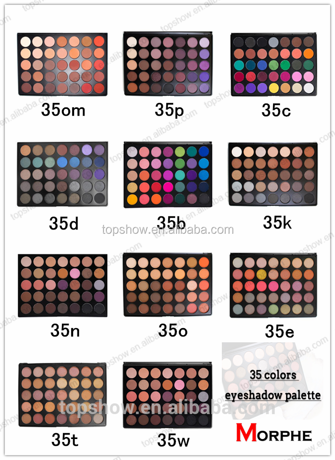 35 Colors Shimmer Matte Eye shadow Makeup Eyeshadow Palette Beauty Make up Set 35O 35P 35H 35N 35W 35E 35F 35T Eyeshadow Palette
