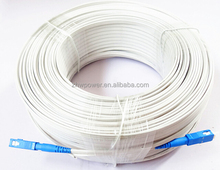 G652D G657A indoor ftth fiber optic drop cable with PE / LSZH jack