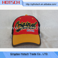 Top quality embroidered head baseball cap