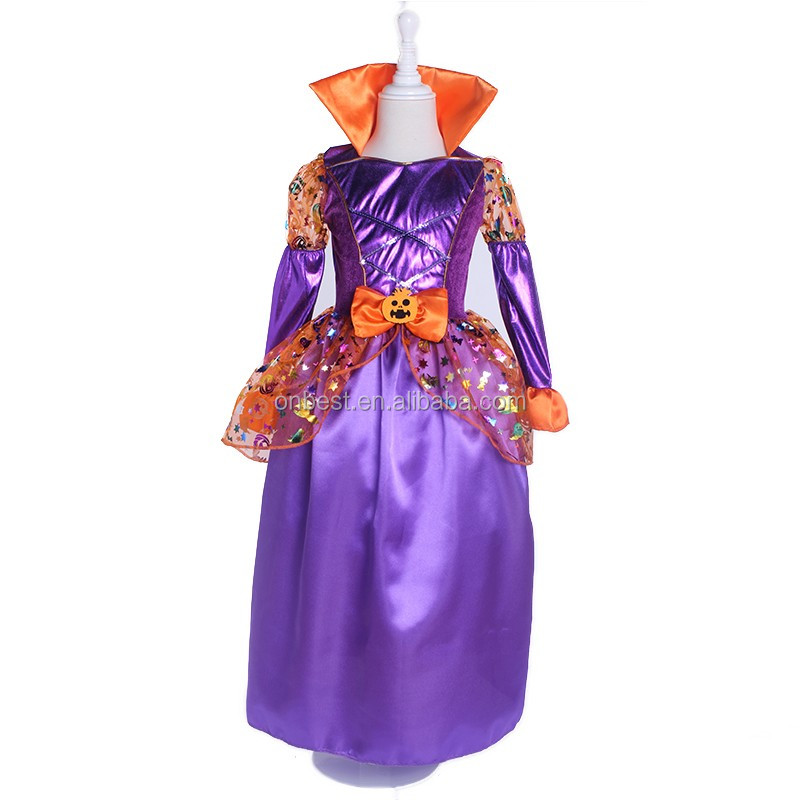 New arrival vampire costume for kids LG1010 purple costume design a halloween costume online