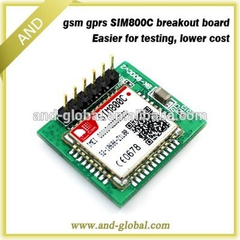Quad band TTL Serial Port SIM800C GSM GPRS breakout board with GSM Antenna