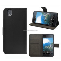 Top selling mobile phone accessories Flip Wallet Leather Case for BlackBerry DTEK50