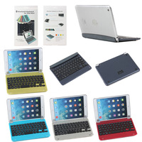 for apple iPad Mini 1 2 3 aluminum keyboard case, wireless bluetooth keyboard tablet case for ipad mini 1 2 3