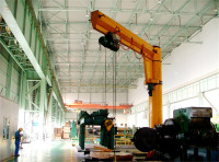 Fixed column slewing jib crane, electric hoisting portable jib crane, Column swing jib crane price