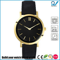 Minimal silhouette watch case 33mm small size quartz movement super slim sapphire crystal