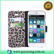 New Arrival Smart Phone Leopard PU Leather Case For iPhone6 Flip Cover