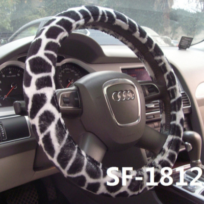 NEW good quality fur anime car steering wheel covers sale promotion for women