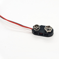 T type ABS hard plastic 9v Battery Clip Snap on Connector with DC head