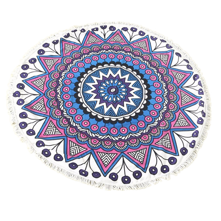 alibaba china terry cloth mandala round beach towel