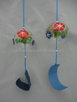 2015 japanese style glass wind-bell for home decoration