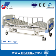 three functions metal frame adjustable hospital bed with ABS headboard parts