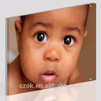 Best selling 12 inch clear acrylic lovely baby digital picture frame