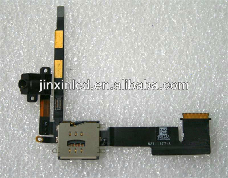 for iPad 2 Audio Flex , Headphone /head phone Jack + Sim card Reader
