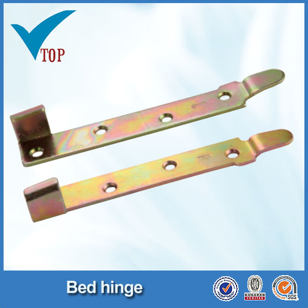 Bed connector metal book hinges