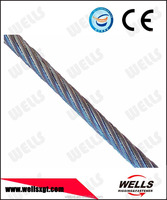 WELLS 2mm - 62mm galvanized steel wire rope from China wire rope factory