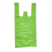 custom printing biodegradable plastic shopping bags with EN13432 BPI OK Home ASTM D6400 certificates