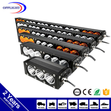 4x4 off road lights bar two beacons led light bar amber white 10w 5w chip colorful single row light bar