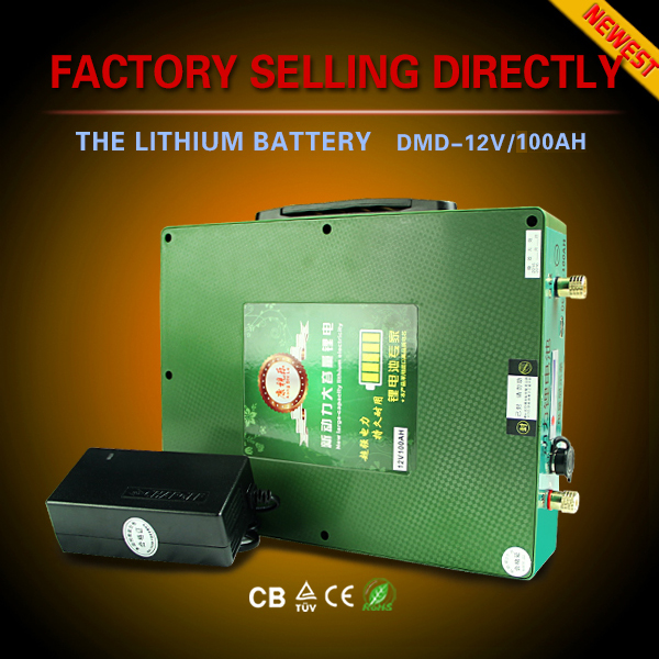 Innovative deep cycle ultra light only 3.5KGS li ion dry cell 12v 70ah car battery with 10A/h battery charger