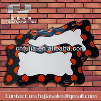 decorative metal sign irregular plaque ,blank aluminum sign