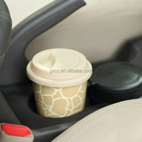 Cheap price ceramic travel coffee mug silicon lid