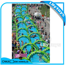200m Inflatable City Slide / Slide the City / Long Street Water Slide for Sale
