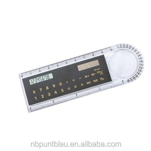 10cm ruler with 8 digitals solar power calculator and magnifier