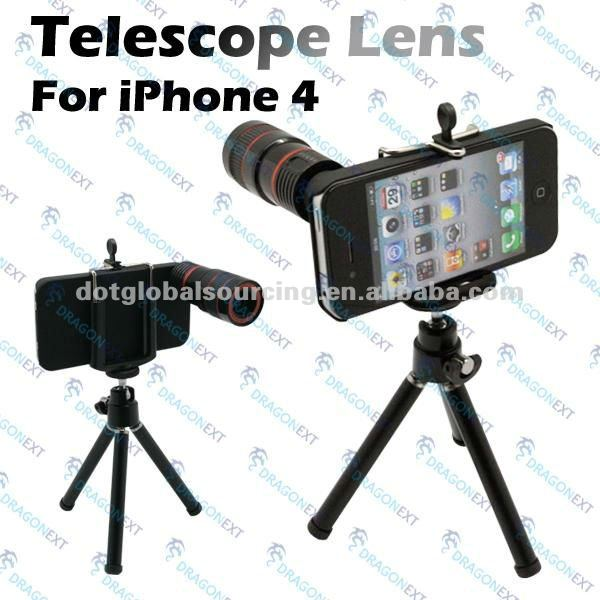 Wholesale Brand New Mobile Phone 8x Optical Zoom Telescope Camera Lens For Apple iPhone 4 4G