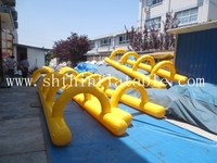 2015 new design inflatable hurdles sports game for sale