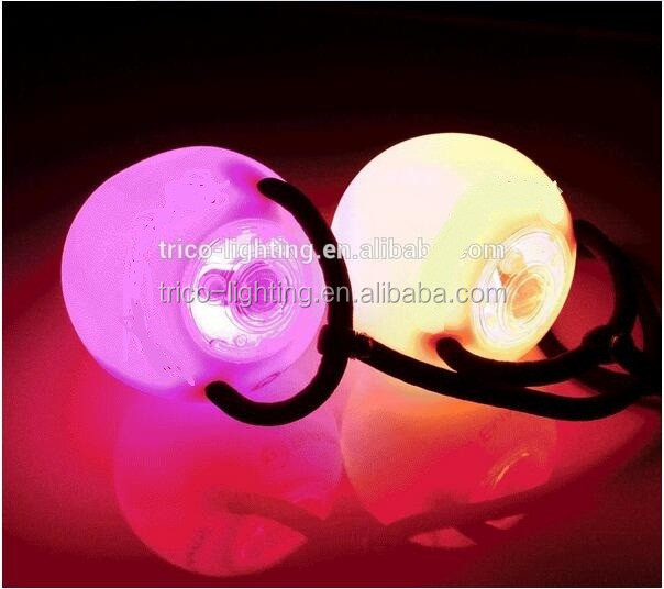 EmazingLights eLite Flow Rave Poi Balls , Spinning LED Light Toy