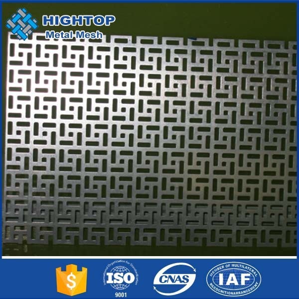 5mm thick stainless steel clover hole embossed perforated sheet metal