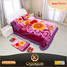 2016 New Designs for Korean Blanket Bed Sheet Set