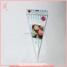 Yiwu jinhua china promotional resealable best selling gift cone bag.opp resealable bag