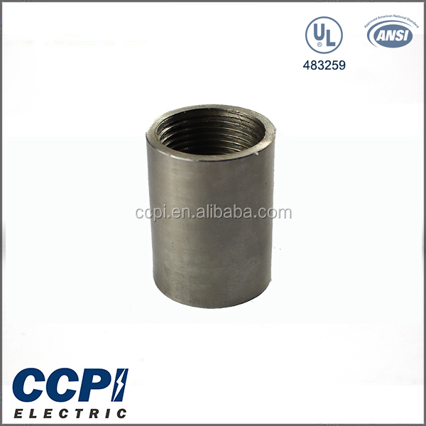 "CCPI Factory Free Sample UL Stainless Steel Coupling 1/2""-6"" Female Equal Round Electrical Coupling Conduit Connection"