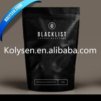 Matt/glossy black coffee bag