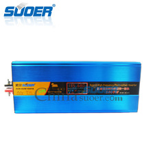 Suoer High frequency 24V 1000W hybrid photovoltaic UPS solar power inverter with mppt charge controller