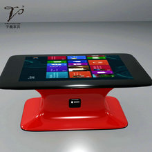 Modern mooon shape tea table with LCD tv table with office table