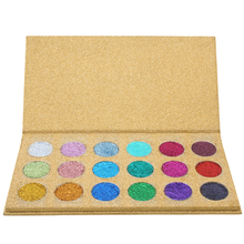 Private Labeling18 Color Glitter Powder Eyeshadow With Glitter Cardboard Packaging