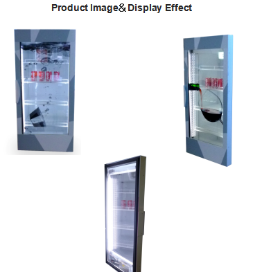 "46"" Transparent HD Samsung /LG/AUO/CHIMI LCD Fridge screen Frame /Door Series from 19 inch to 47 inch"