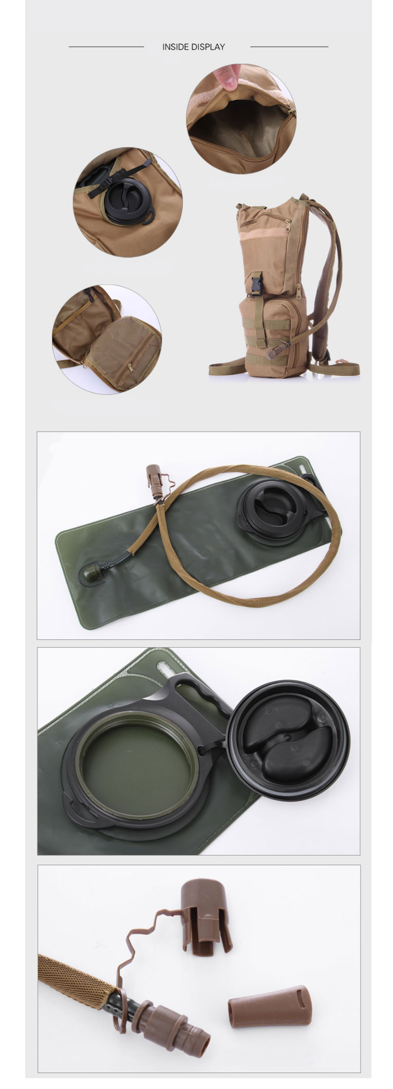 3L/hydration desert camo military camel water bag army backpack