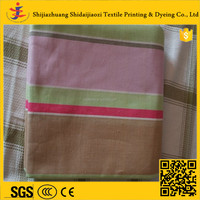 China supplier factory wholesale yarn dyed twill woven 100% cotton fabric
